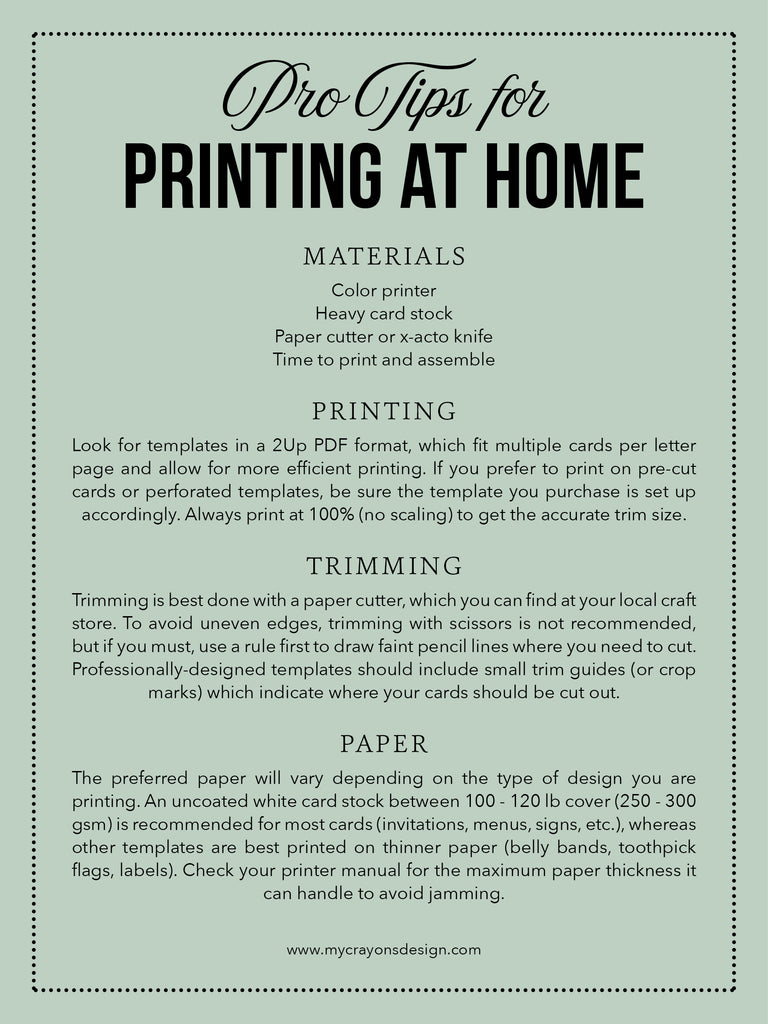 Pro Tips for Printing at Home