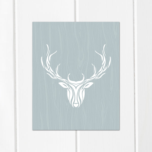 deer and antler art print