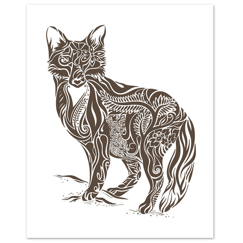 abstract fox print