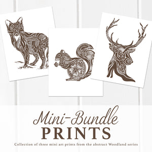 Mini Bundle Woodland Art Prints