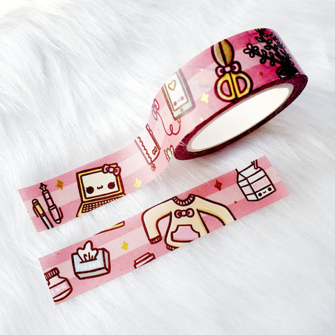 KAWAII DREAMS LOLITA GOLD FOILED WASHI TAPE - WT043