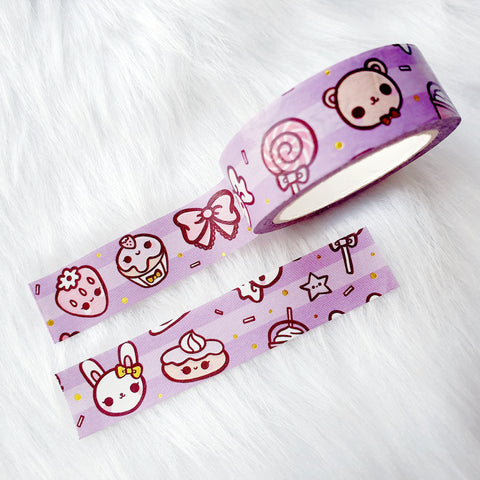 BOW WASHI CLEAR STICKERS - W001
