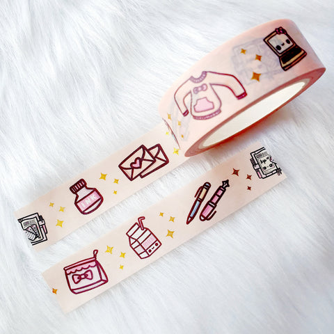 TEA TIME LOLITA DREAMS GOLD FOILED SLIM WASHI TAPE 8mm - WT034
