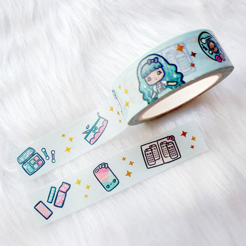 CHIC LOLITA DREAMS GOLD FOILED SLIM WASHI TAPE 8mm - WT035