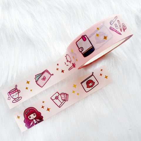 TEA TIME LOLITA DECO GOLD FOILED WASHI TAPE - WT029