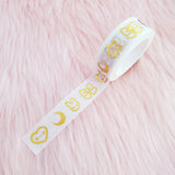WHITE NIGHT & DAY GOLD FOILED DREAMS WASHI TAPE - WT018