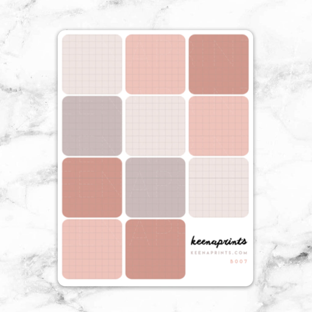 NEUTRAL GRID MEMO STICKERS - B007