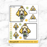 ISABELLE ANIMAL CROSSING CHIBI FULL BOX STICKERS - B016