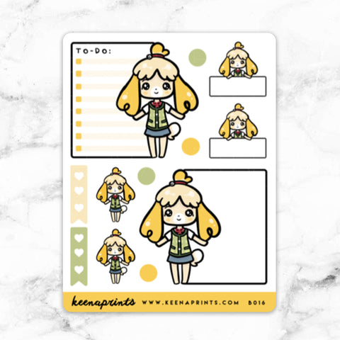 YELLOW WIZARD WONDERLAND FULL BOX STICKERS - K080