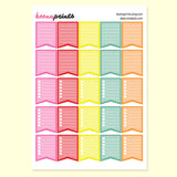 CHECKLIST FLAGS PRINTABLE STICKERS - BRIGHTS - KeenaPrints planner stickers bullet journal diary sticker emoji stationery kawaii cute creative planner
