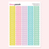CHORES PAGEFLAGS PRINTABLE STICKERS - KeenaPrints planner stickers bullet journal diary sticker emoji stationery kawaii cute creative planner