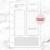 UNDATED DAILY PLANNER PRINTABLE V1 - POCKET RINGS