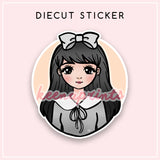 TEEN LOLA DIECUT STICKER - DC028 - KeenaPrints planner stickers bullet journal diary sticker emoji stationery kawaii cute creative planner