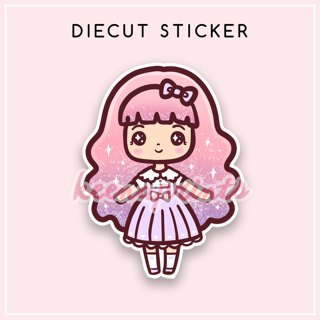CANDY LOLITA DIECUT STICKER - DC039 - KeenaPrints planner stickers bullet journal diary sticker emoji stationery kawaii cute creative planner