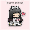 BOOKWORM LOLA DIECUT STICKER - DC054