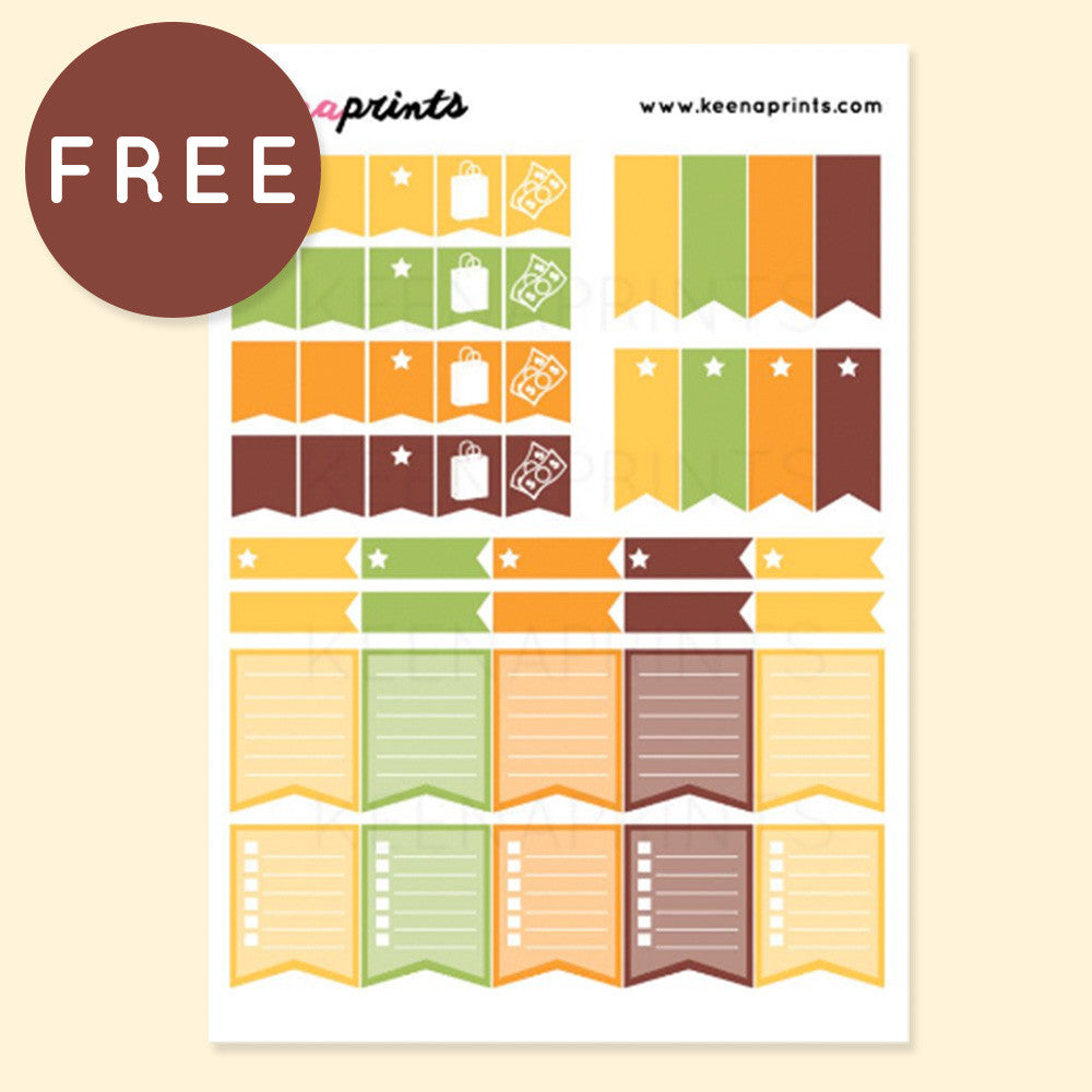 image about Free Printable Stickers referred to as Listing FLAGS Variety No cost PRINTABLE STICKERS - AUTUMN