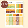 CHECKLIST FLAGS COLLECTION FREE PRINTABLE STICKERS - AUTUMN - KeenaPrints planner stickers bullet journal diary sticker emoji stationery kawaii cute creative planner