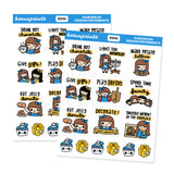HANUKKAH KEENACHIEVEMENTS KEENACHI STICKERS Z026 - SET OF 15 - KeenaPrints planner stickers bullet journal diary sticker emoji stationery kawaii cute creative planner