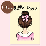 HELLO LOVE FREE PRINTABLE [A5]