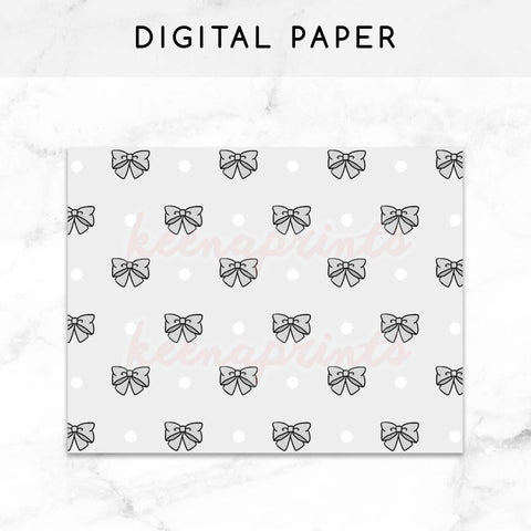 GRAY GIRLS DIGITAL PAPER PRINTABLE