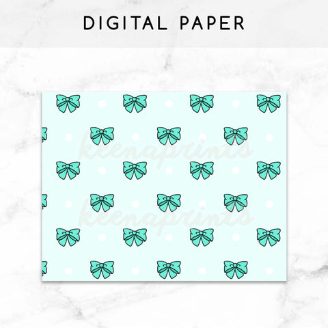 GRAY BOWS DIGITAL PAPER PRINTABLE