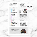 UNDATED DAILY PLANNER FREE PRINTABLE V2 - POCKET RINGS