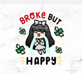BROKE BUT HAPPY LOLA PRINTABLE CLIP ART - L097