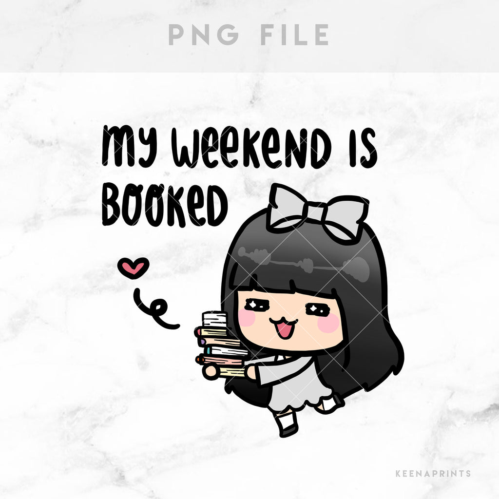WEEKEND IS BOOKED LOLA PRINTABLE CLIP ART - L101