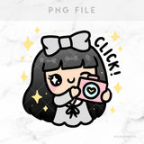 PHOTOGRAPHER LOLA PRINTABLE CLIP ART - L153
