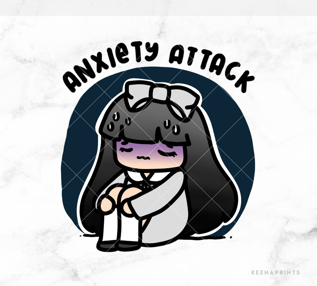ANXIETY ATTACK LOLA PRINTABLE CLIP ART - L194