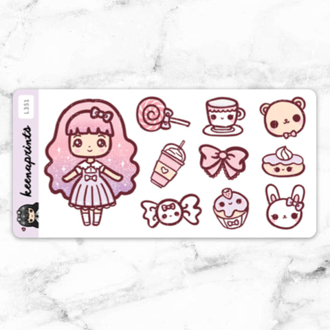 SHOPPING STICKERS LOLA - L311