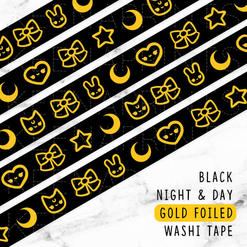 DAY DREAMS GOLD FOILED SLIM WASHI TAPE 8mm - WT040