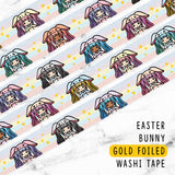[LIMITED EDITION] EASTER BUNNY LOLITA GOLD FOILED WASHI TAPE - WT024