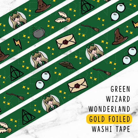 LIME CANDY DREAMS ROSEGOLD FOILED WASHI TAPE - WT014