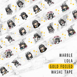 MARBLE LOLA GOLD FOILED WASHI TAPE - WT005 - KeenaPrints planner stickers bullet journal diary sticker emoji stationery kawaii cute creative planner