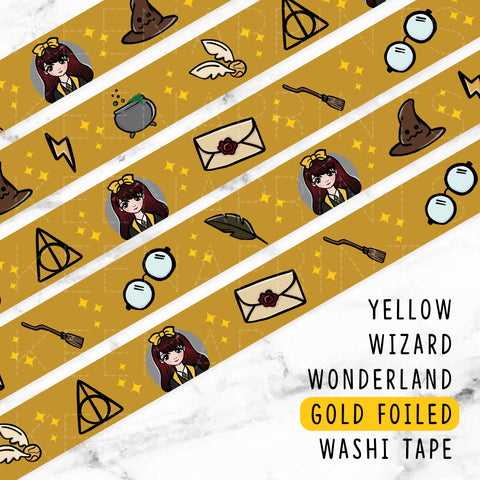 KAWAII DREAMS LOLITA DECO GOLD FOILED WASHI TAPE - WT049