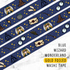 BLUE WIZARD WONDERLAND GOLD FOILED WASHI TAPE - WT008 - KeenaPrints planner stickers bullet journal diary sticker emoji stationery kawaii cute creative planner