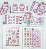 SWEET LOLITA STICKER ALBUM - SA001 - KeenaPrints planner stickers bullet journal diary sticker emoji stationery kawaii cute creative planner