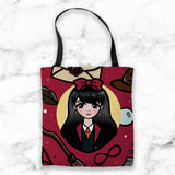 RED WIZARD WONDERLAND TOTE BAG - MR040