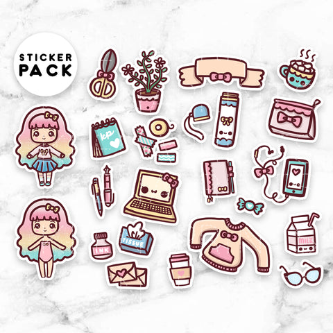CANDY LOLITA DECO CLEAR STICKERS - Z102