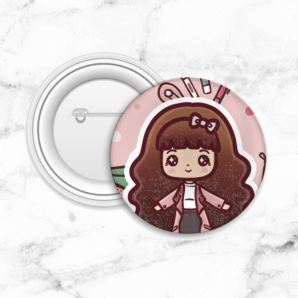 CHIC LOLITA BUTTON PIN - MR071