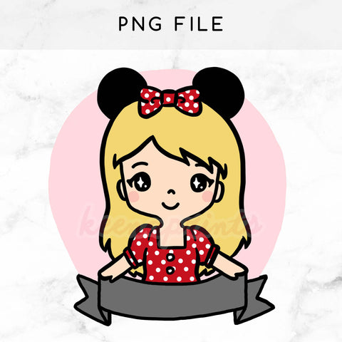 PRE-MADE CHIBI MINNIE KEENACHI PRINTABLE CLIP ART