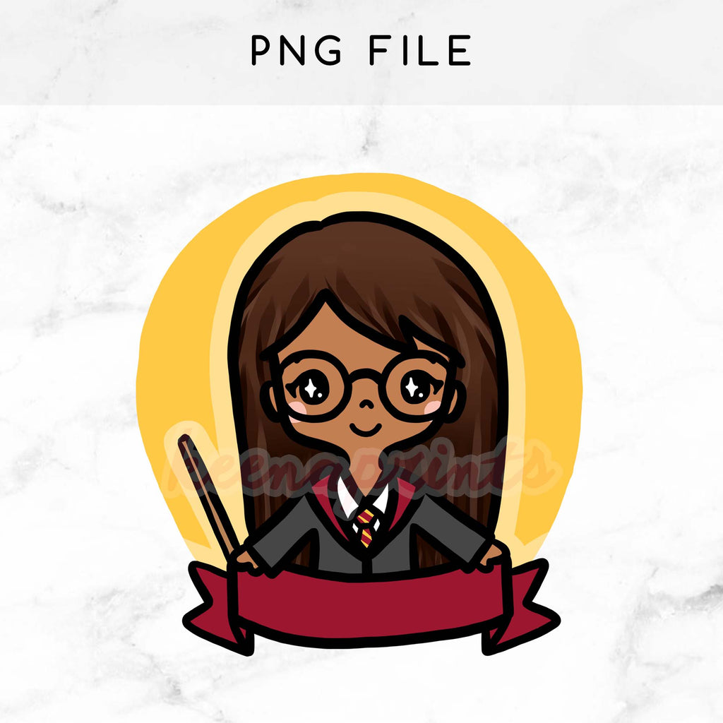GRYFFINDOR WIZARD KEENAMI PRE-MADE CHIBI PRINTABLE CLIP ART - KeenaPrints planner stickers bullet journal diary sticker emoji stationery kawaii cute creative planner