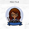 RAVENCLAW WIZARD KEENAMI PRE-MADE CHIBI PRINTABLE CLIP ART - KeenaPrints planner stickers bullet journal diary sticker emoji stationery kawaii cute creative planner