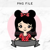 PRE-MADE CHIBI MINNIE WEDNESDAY PRINTABLE CLIP ART - KeenaPrints planner stickers bullet journal diary sticker emoji stationery kawaii cute creative planner