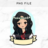 PINAY PRIDE PRE-MADE CHIBI PRINTABLE CLIP ART - KeenaPrints planner stickers bullet journal diary sticker emoji stationery kawaii cute creative planner