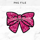 GLITTER BOW PINK PRINTABLE CLIP ART