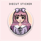 TEEN CANDY LOLITA DIECUT STICKER - DC041