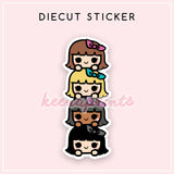 KEENATSUM DIECUT STICKER - DC001 - KeenaPrints planner stickers bullet journal diary sticker emoji stationery kawaii cute creative planner