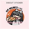 PIZZA LOLA DIECUT STICKER - DC022 - KeenaPrints planner stickers bullet journal diary sticker emoji stationery kawaii cute creative planner